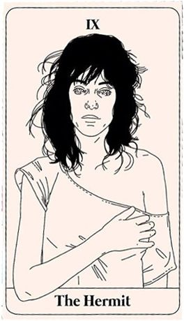 La cantante Patty Smith es la Ermitaña en este original Tarot